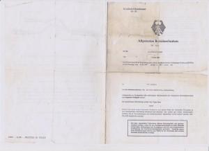 Honda S 800, ABE Nr. 10322, Abarth Nr. 1322, page 1