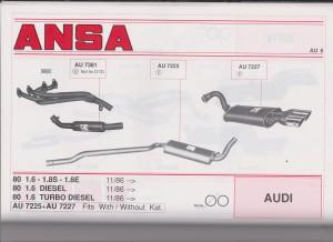 ANSA Audi 80 85-87 AU 7223 from 21-B page