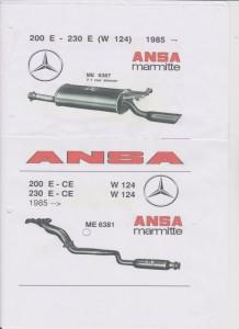 ANSA Mercedes-Benz 200-230E W124