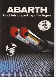 Abarth Hochleistungs-Auspuffanlagen 1990-History