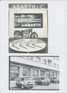 Abarth advertentie 60-70 jaren Motorfiets en 800T serviceauto