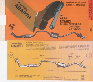 Alfa Romeo Giulia sprint Nr. 1258 1208 shop