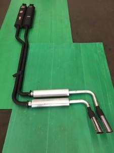 Austin Healey 3000 MK3-BJ8 Abarth nr.1303 + A-H Spares endsilencers + Abarth chrome pipes nr.1