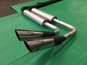 Austin Healey 3000 MK3-BJ8 Abarth nr.1303 + A-H Spares endsilencers + Abarth chrome pipes nr.2