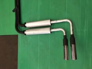 Austin Healey 3000 MK3-BJ8 Abarth nr.1303 + A-H Spares endsilencers + Abarth chrome pipes nr.3