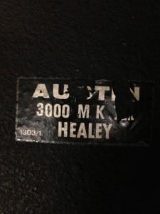 Austin-Healy 3000 Abarth Nr. 1303 010