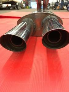 Fiat-Abarth 1000 TC Steel manifold + stainless twin Abarth resonators (8)