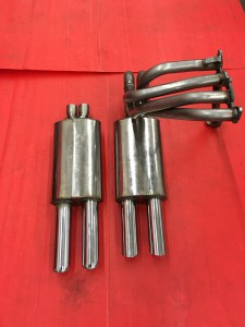 Fiat-Abarth 1000 TC Steel manifold + stainless twin Abarth resonators (9)