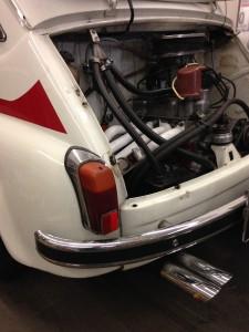 Fiat-Abarth 1000 TC steel maifold+ Abart muffler