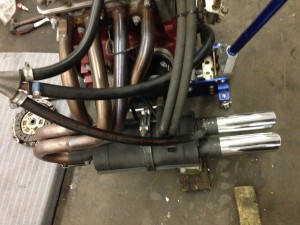 Fiat-Abarth Stainless manifold + Abarth endmuffler (1)