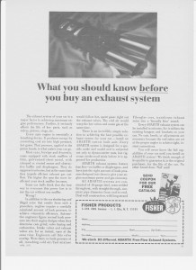 Fisher advertising (What you should know)