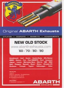 Leaflet nieuw Abarth-Exhausts