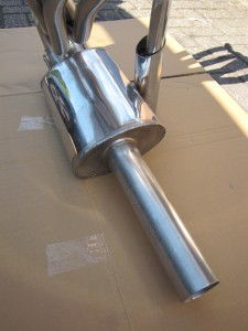 Racing stainless endmuffler 95 dB