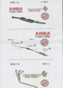 ANSA MG B cpl. incl. manifold