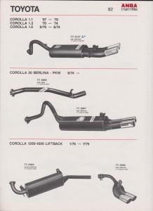 ANSA Toyota Corolla, page 82