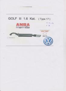 ANSA VW Golf II VW 7487