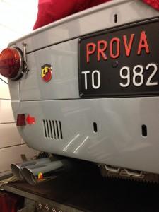 Fiat-Abarth 1000 OT Abarth exhaust