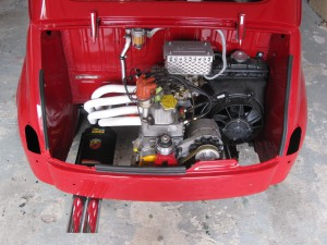 Fiat-Abarth 1000 TC Abarth exhaust with steel racing manifold (2)