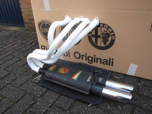 Racing, steel or stainless manifold with Abarth muffler 1000 TC