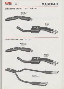 ANSA Maserati Ghibli Middlemufflers catalogue