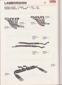 Lamborghini Espada 1 series ANSA exhaust
