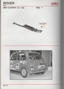 ANSA Mini Cooper 1.3i - Kat from 1992 RV 4027