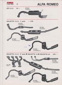 ANSA Alfa Romeo Giulietta 1,3-1,6-2,0 page 9